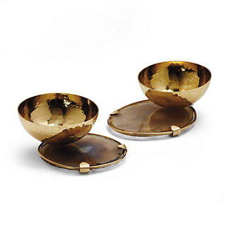 Donatella Agate Snack Bowls, Set of Two