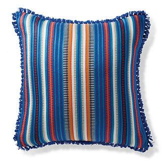 Atalanti Stripe Cobalt Outdoor Pillow