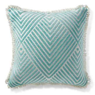 Carved Diamond Aruba Outdoor Pillow