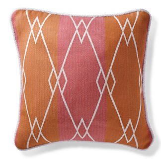 Cascade Stripe Peony Outdoor Pillow