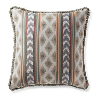 Ensenada Stripe Dove Outdoor Pillow