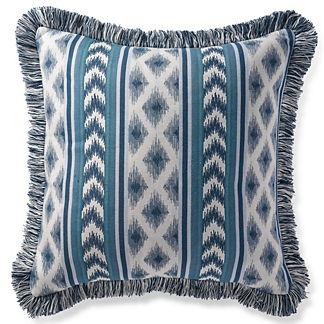 Ensenada Stripe Indigo Outdoor Pillow