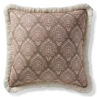 Kashmir Jewel Peche Outdoor Pillow