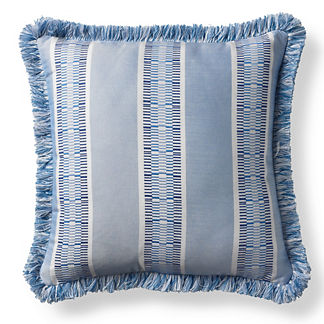 Kiernan Stripe Air Blue Outdoor Pillow