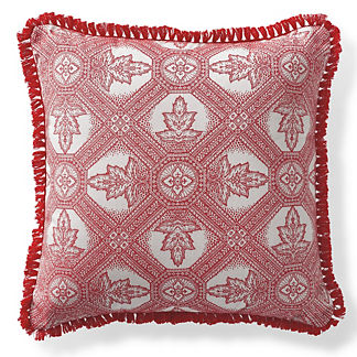 Lille Tile Garnet Outdoor Pillow