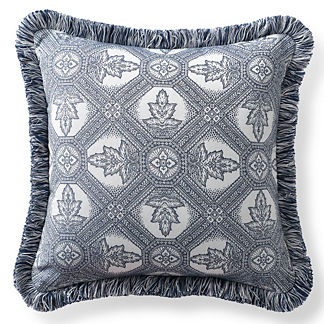 Lille Tile Navy Outdoor Pillow