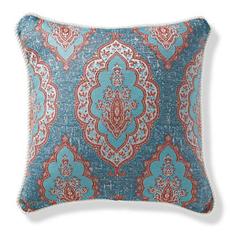 Royden Frame Chambray Outdoor Pillow