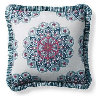 Sira Medallion Fuchsia Outdoor Pillow