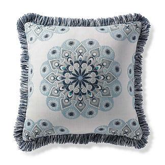 Sira Medallion Indigo Outdoor Pillow