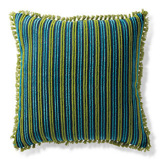 Tangier Stripe Lagoon Outdoor Pillow