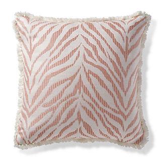 Zebra Linen Peche Outdoor Pillow