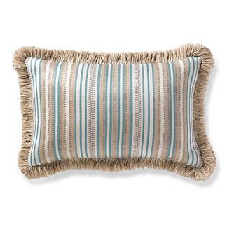Atalanti Stripe Frost Outdoor Lumbar Pillow