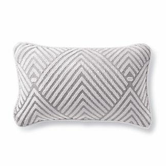 Carved Diamond Dove Outdoor Lumbar Pillow