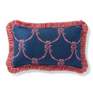 Chateau Garland Sapphire Outdoor Lumbar Pillow