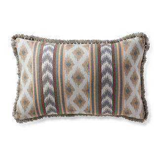 Ensenada Stripe Dove Outdoor Lumbar Pillow