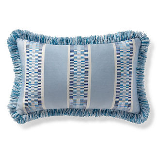 Kiernan Stripe Air Blue Outdoor Lumbar Pillow