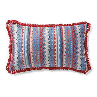 Navajo Crossing Nautical Outdoor Lumbar Pillow