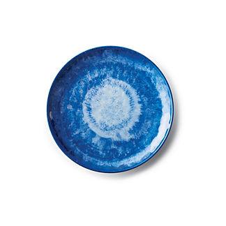 Reactive Blue Salad Plates, Set of Four