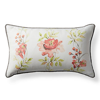 Oriental Blooms Outdoor Lumbar Pillow