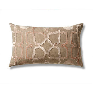 Metallic Trellis Decorative Pillow