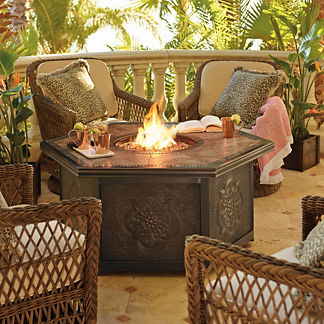 Hampton 5-pc. Chat Set with Arezzo Custom Fire Table