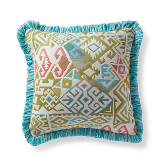 Kilim Chic Sandstone Outdoor Pillow