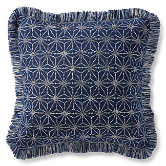 Luminary Sapphire Outdoor Pillow