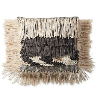 Havana Fringe Outdoor Throw Pillow