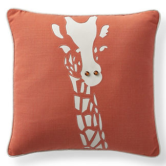 Etched Giraffe Outdoor Pillow