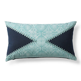 Atlantic Tile Indigo Outdoor Lumbar Pillow