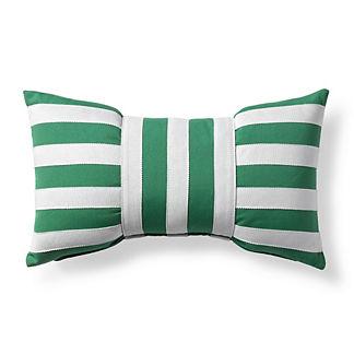 Designer Bow Jade Outdoor Lumbar Pillow