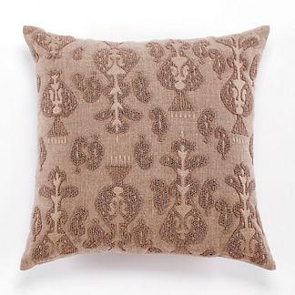 Natural Beaded Decorative Pillow