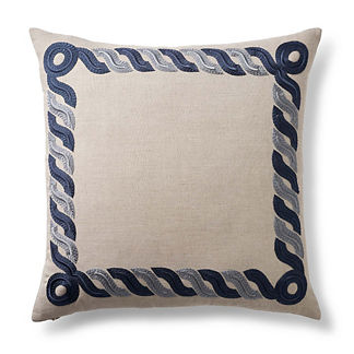 Rope Embroidered Decorative Pillow