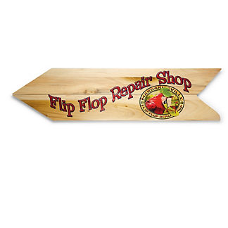 Margaritaville Flip Flop Repair Directional Sign