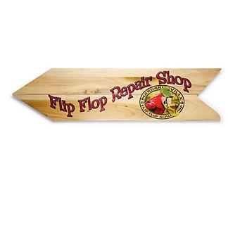 Margaritaville Flip Flop Repair Directional Sign