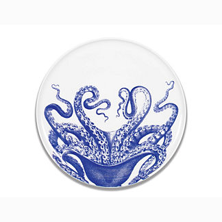 Blue Lucy Melamine Coupe Platter