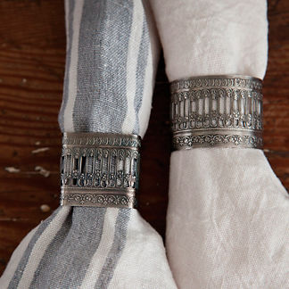 Victorian Napkin Rings, Set of Four