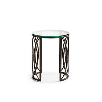 Valletta Round Side Table with Glass Top