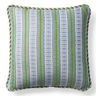 Diamond Trail Wave Outdoor Pillow