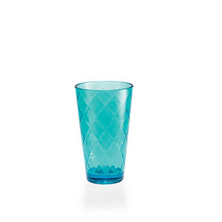 Donatella Tritan Diamond Highball Glasses, Set of Six