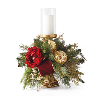 Parisian Christmas Pre-Decorated Candle Holder