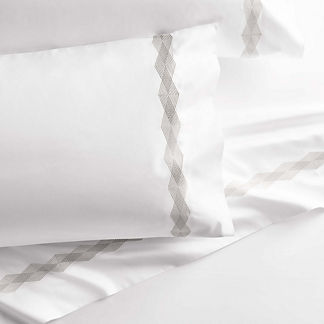 Geo Diamond Pillowcases, Set of Two