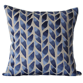 Tobacco Embroidered Decorative Pillow by Bliss Studio