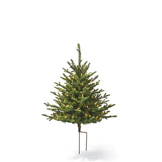 Fraser Staked Artificial Pre-lit Christmas Tree