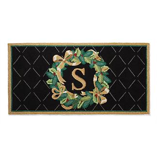 Winter Wreath Holiday Mat