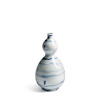 Indigo Marble Double Gourd Vase