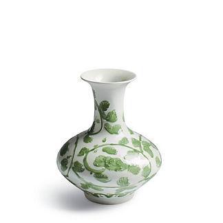 Jade Vine Flared Vase