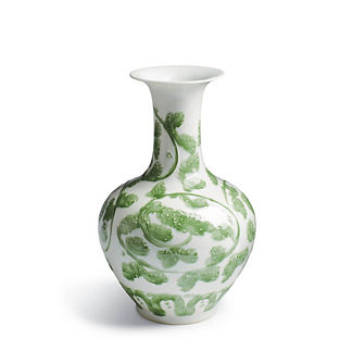 Jade Vine Wide Mouth Vase