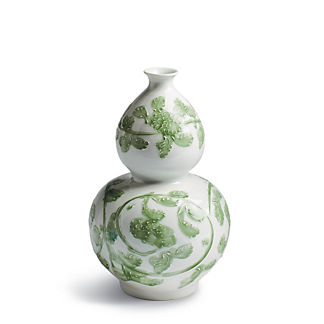 Jade Vine Double Gourd Vase