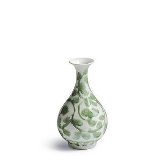 Jade Vine Fluted Vase